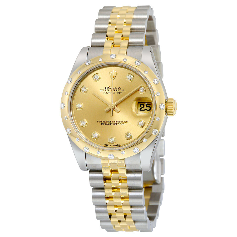 Rolex Datejust Lady 31 Champagne Dial Stainless Steel and 18K Yellow Gold  Jubilee Bracelet Automatic Watch ... 9fce43919