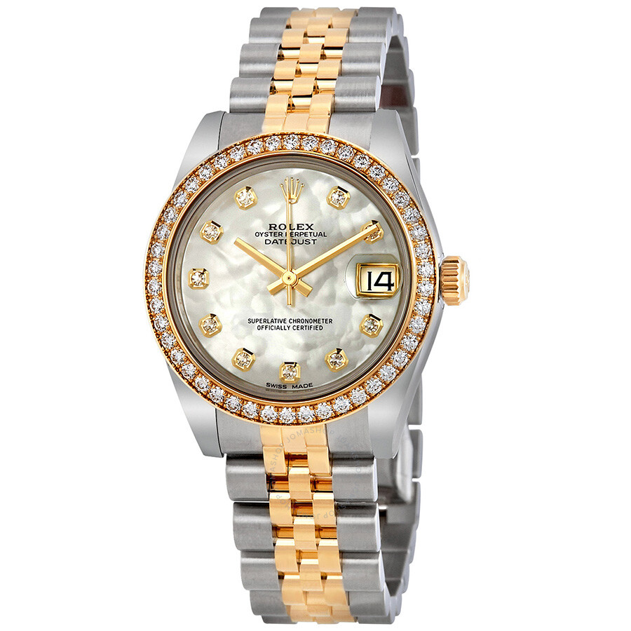 1b2317a7ba7 Rolex Datejust Lady 31 Mother of Pearl Dial Stainless Steel and 18K Yellow  Gold Jubilee Bracelet ...