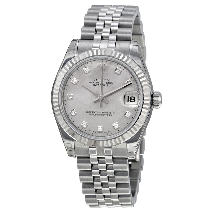 10042acfbee Rolex Datejust Lady 31 Mother-of-pearl With Diamonds Dial Stainless Steel  Jubilee Bracelet ...