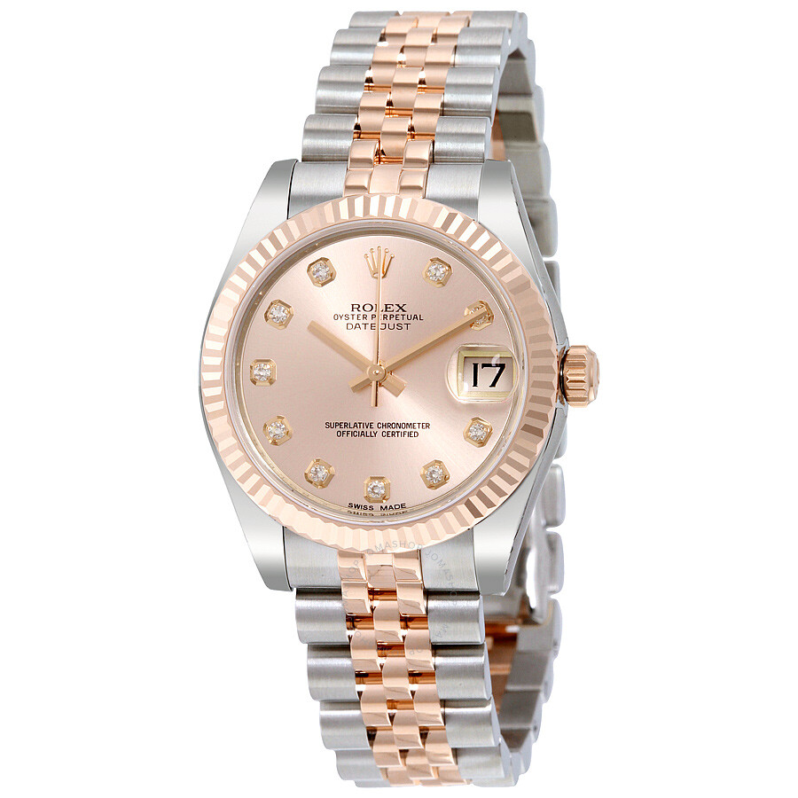 b44ef7663b5 Rolex Datejust Lady 31 Pink Dial Stainless Steel and 18K Everose Gold  Jubilee Bracelet Automatic Watch ...