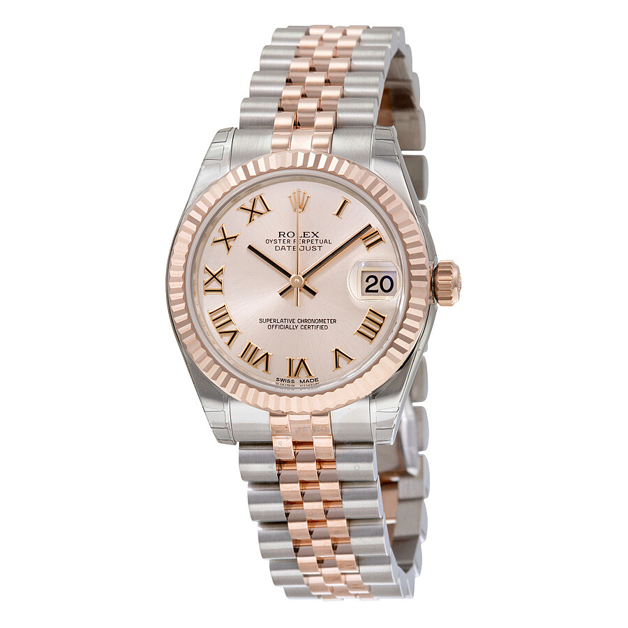 Rolex Datejust Lady 31 Pink Dial Stainless Steel and 18K Everose Gold  Jubilee Bracelet Automatic Watch 178271PRJ 178271PRJ - Rolex, Datejust Lady  31 - Jomashop