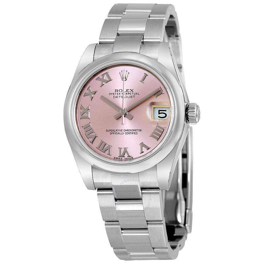 rolex datejust lady 31 pink dial stainless steel rolex. Black Bedroom Furniture Sets. Home Design Ideas