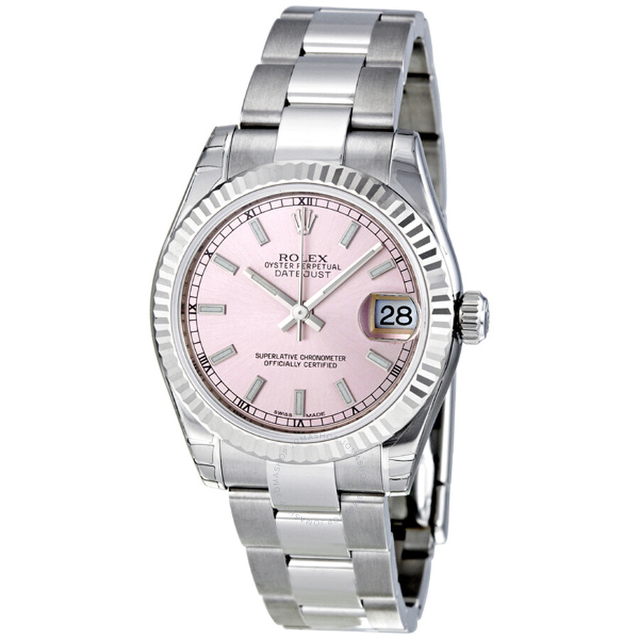 Rolex Datejust Lady 31 Pink Dial Stainless Steel Oyster Bracelet Automatic Watch 178274pso