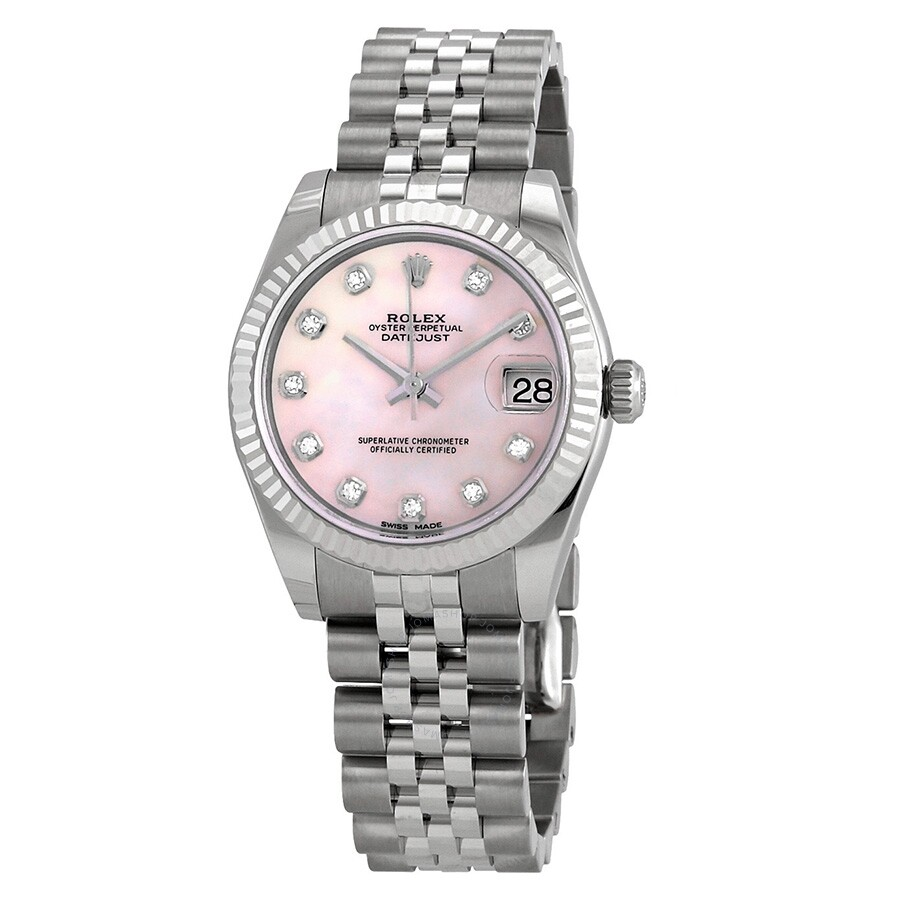 854390e8a90 Rolex Datejust Lady 31 Pink Mother-of-pearl with Diamonds Dial Stainless  Steel Jubilee ...