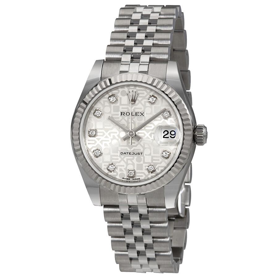 Rolex Datejust Lady 31 Silver Dial Stainless Steel Jubilee Bracelet Automatic Watch 178274sjdj