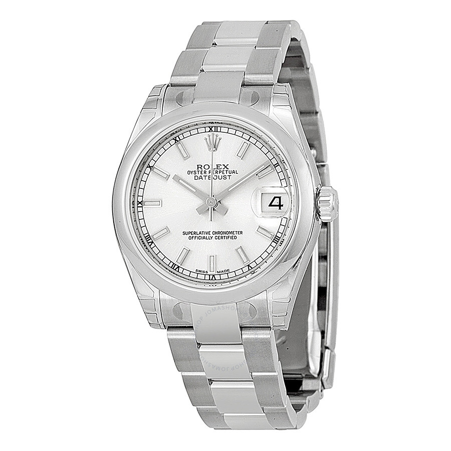 ba25624528cb Rolex Datejust Lady 31 Silver Dial Stainless Steel Oyster Bracelet  Automatic Watch 178240SSO ...