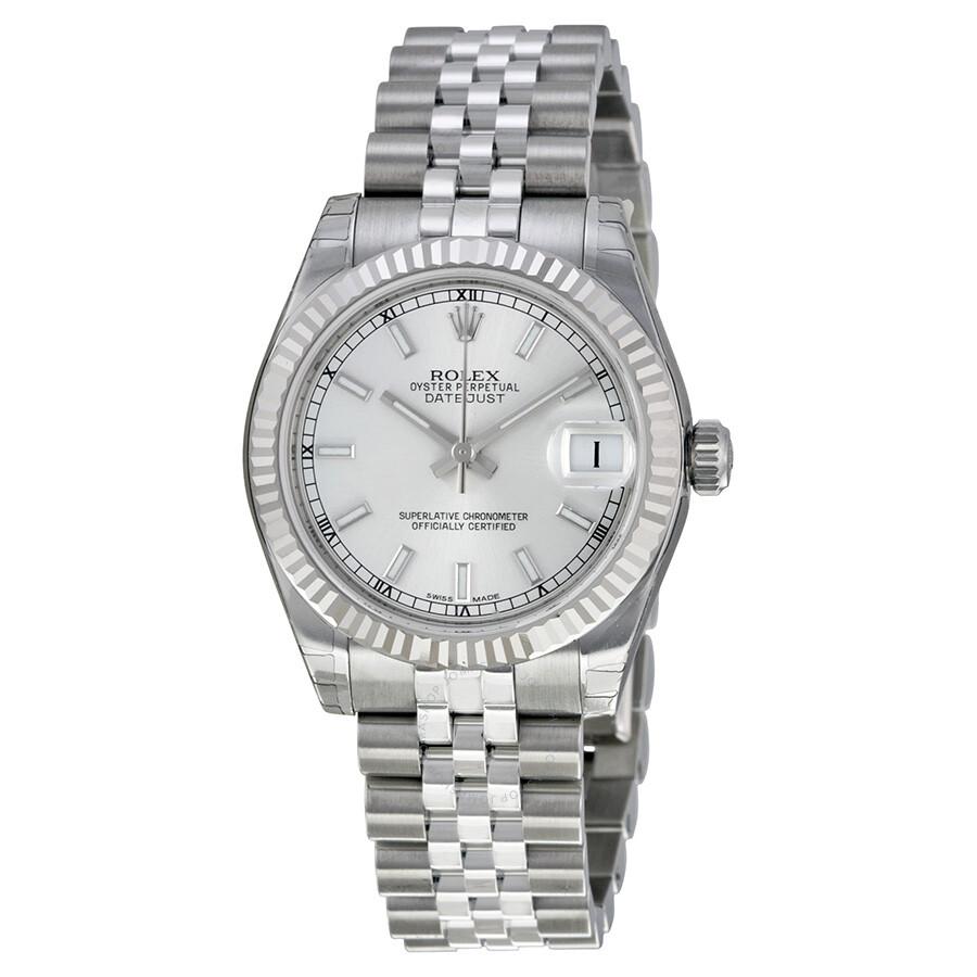 Rolex Datejust Lady 31 Silver Dial Stainless Steel Jubilee Bracelet Automatic Watch 178274ssj