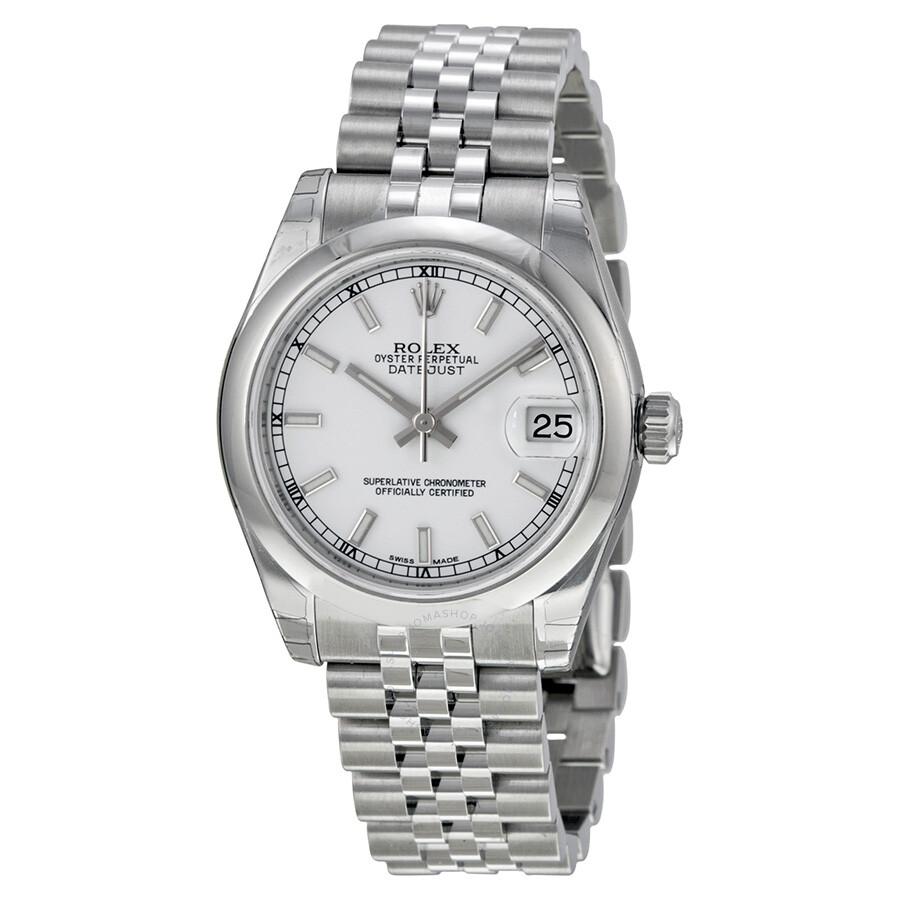 Rolex Datejust Lady 31 White Dial Stainless Steel Jubilee Bracelet  Automatic Watch 178240WSJ