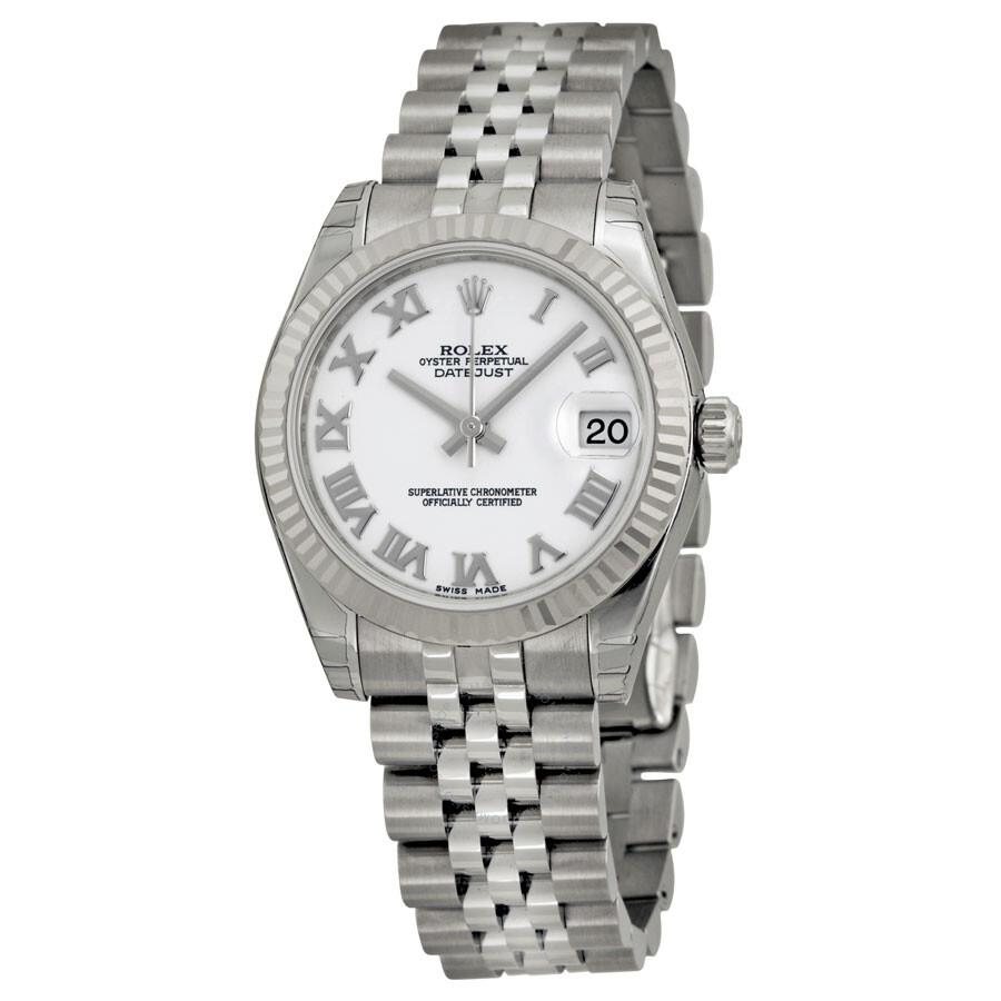 Rolex Datejust Lady 31 White Dial Stainless Steel Jubilee Bracelet Automatic Watch 178274wrj
