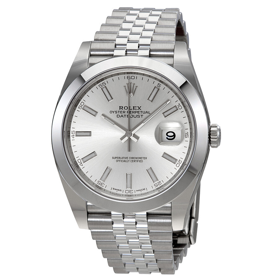 rolex datejust silver dial automatic men 39 s jubilee watch 126300ssj datejust rolex watches