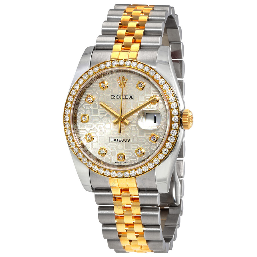 Datejust Silver Dial Automatic Stainless Steel and 18 Carat Yellow Gold Ladies Watch 116243SJDJ