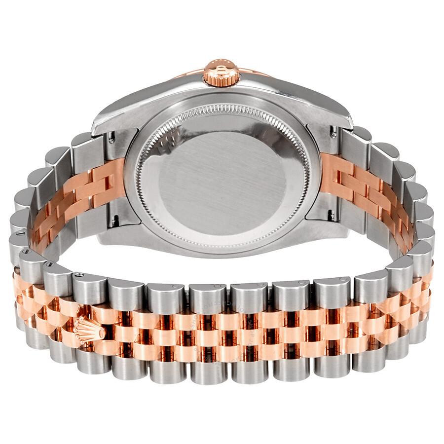 10a8ffa81c4 ... Rolex Datejust White Index Dial 18k Rose Gold Turn-o-Graph Bezel  Jubilee Bracelet