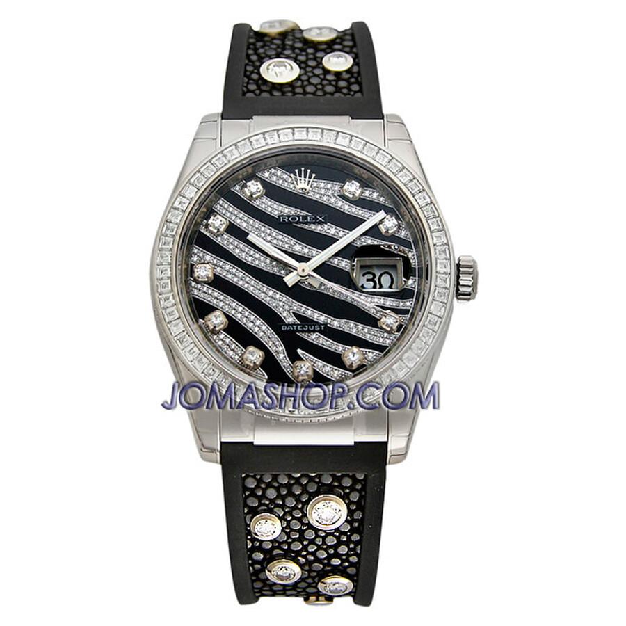 Rolex Datejust Zebra Stripe Diamond Dial Ladies Watch 116189BBR