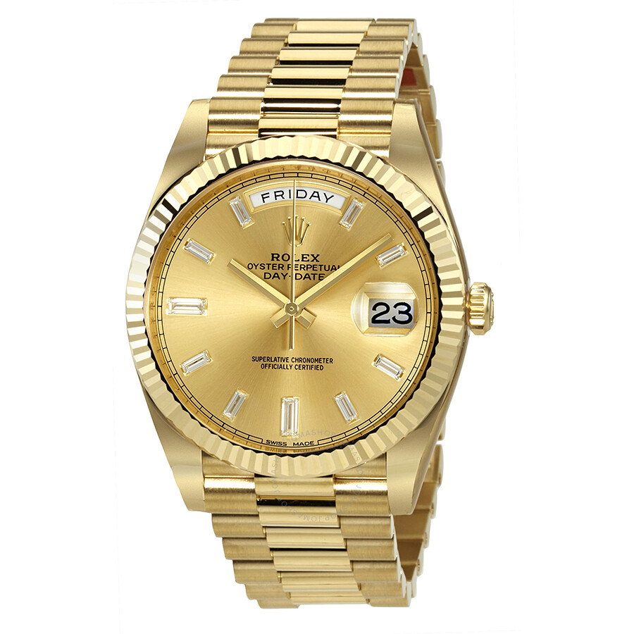d804f38e29bc Rolex Day-Date 40 Champagne Dial 18K Yellow Gold President Automatic Men s  Watch 228238CDP ...