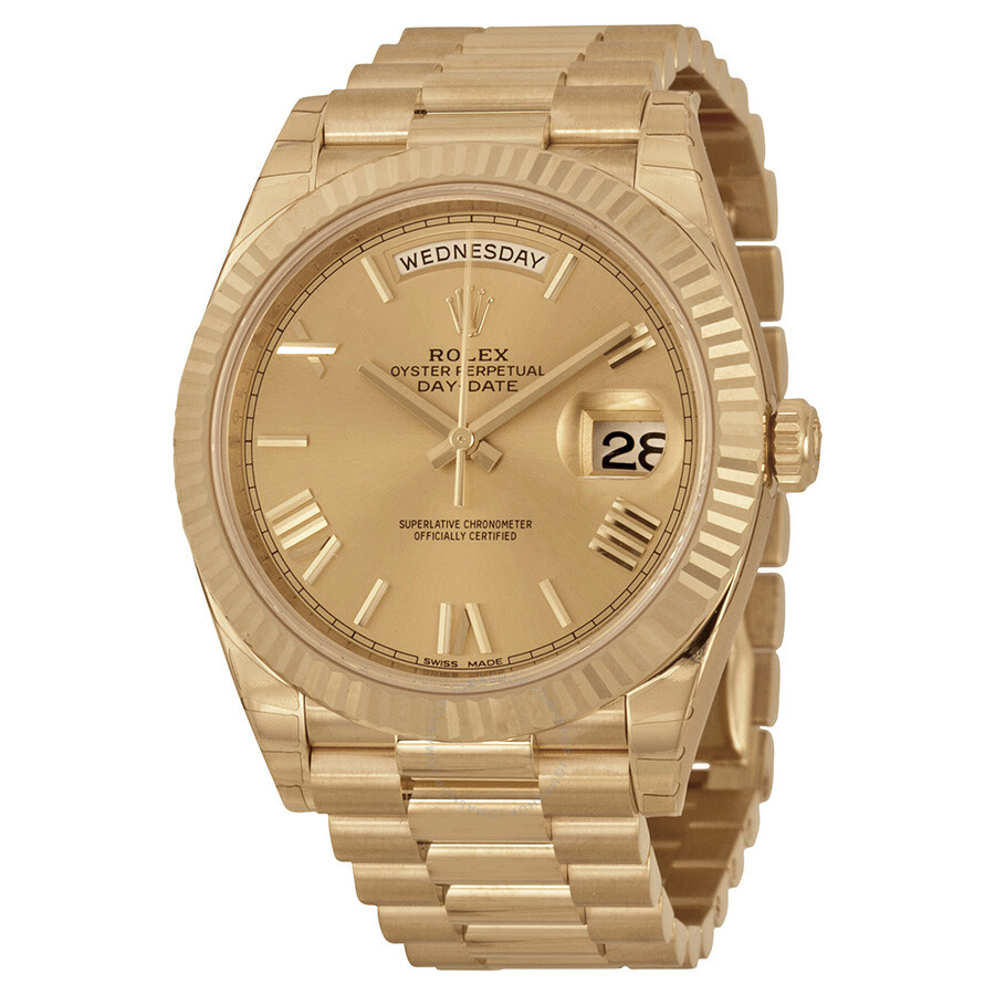 rolex watches jomashop rolex day date 40 champagne dial 18k yellow gold president automatic men s watch