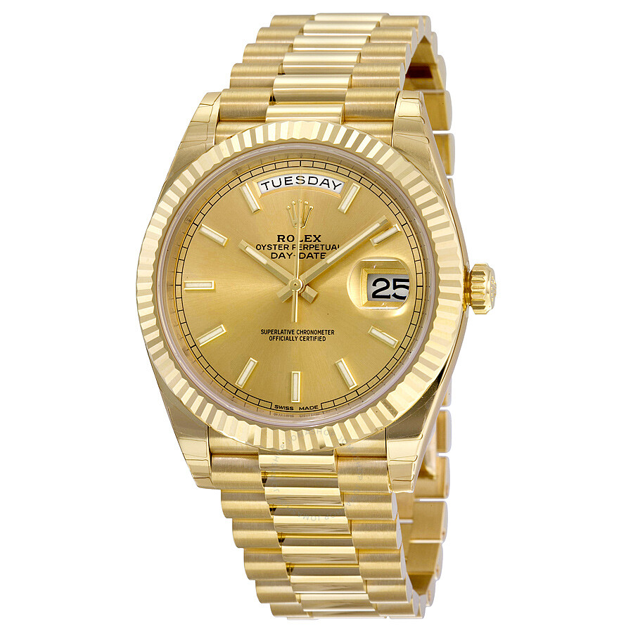 9982fced218 Rolex Day-Date 40 Champagne Dial 18K Yellow Gold President Automatic Men's  Watch 228238CSP ...