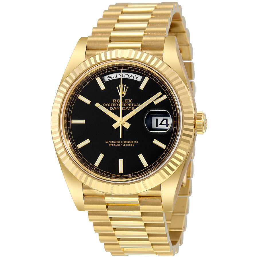 a0c59f9e853a Rolex Day Date Automatic Black
