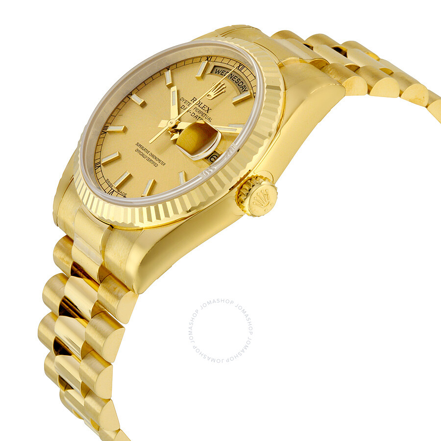 b27af4c617c72 ... Rolex Day-Date Champagne Dial 18K Yellow Gold President Automatic Men s  Watch 118238CSP ...