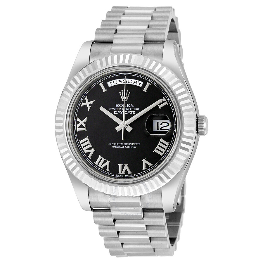 44ab6bb4857e Rolex Day-Date II Black Dial 18K White Gold President Automatic Men s Watch  218239BKRP Item No. RLX218239