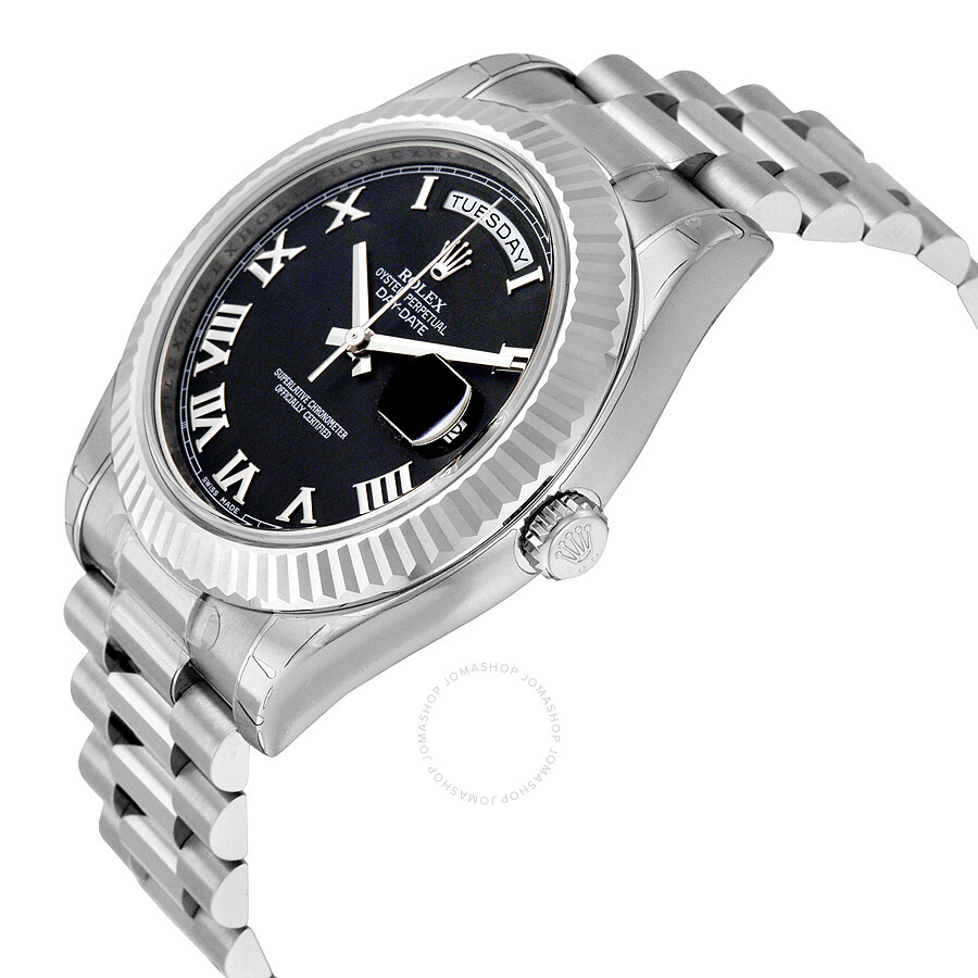 07d5368d7c43 ... Rolex Day-Date II Black Dial 18K White Gold President Automatic Men s  Watch 218239BKRP ...