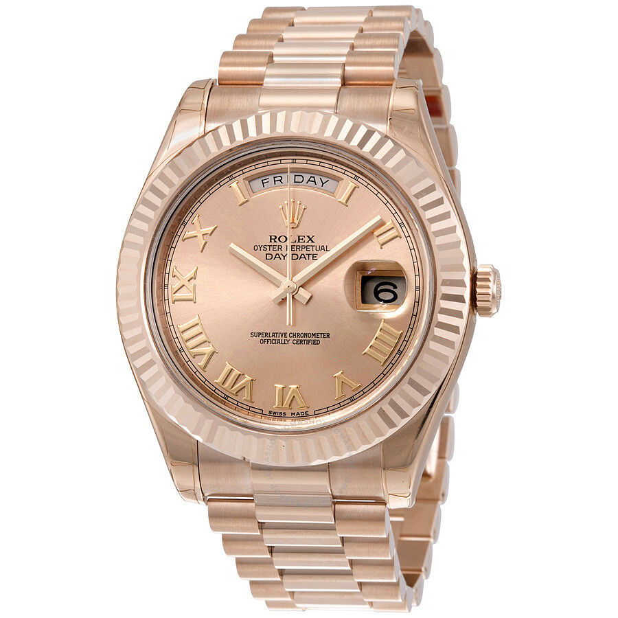 d710ac03adab Rolex Day-Date II Champagne Dial 18K Everose Gold President Automatic Men s  Watch 218235CRP ...
