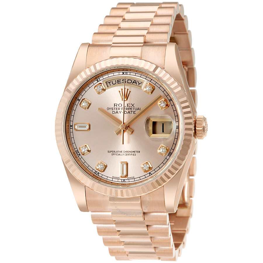8c32d891fd6 Rolex Day-Date Pink Dial 18K Everose Gold President Automatic Men's Watch  118235PDP ...
