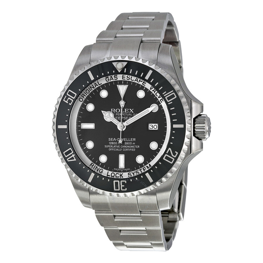9c32a05bb35 Rolex Deepsea Black Dial Stainless Steel Oyster Bracelet Automatic Men's  Watch 116660BKSO ...
