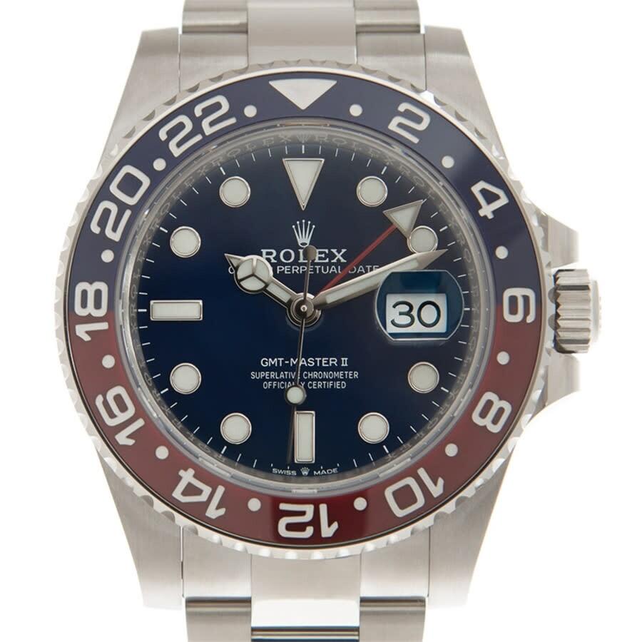 Rolex GMT,Master II Automatic Chronometer Blue Dial Pepsi Bezel Watch  M126719BLRO,0003