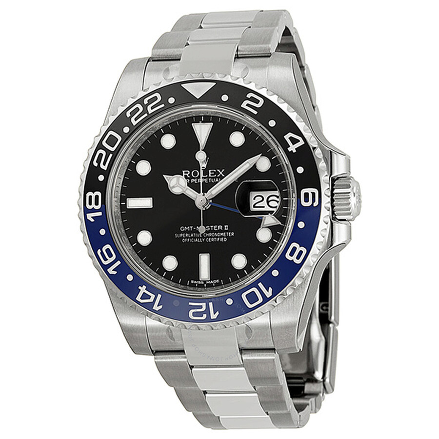 rolex gmt master ii black dial stainless steel men 39 s watch 116710blnr gmt master ii rolex