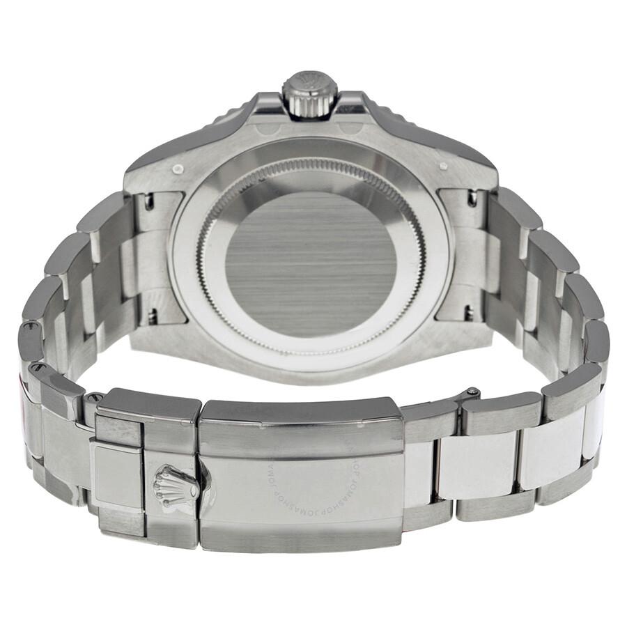 83dc833b998 ... Rolex GMT Master II Black Lacquer Dial 18K White Gold Oyster Bracelet  Pepsi Bezel Automatic Men's