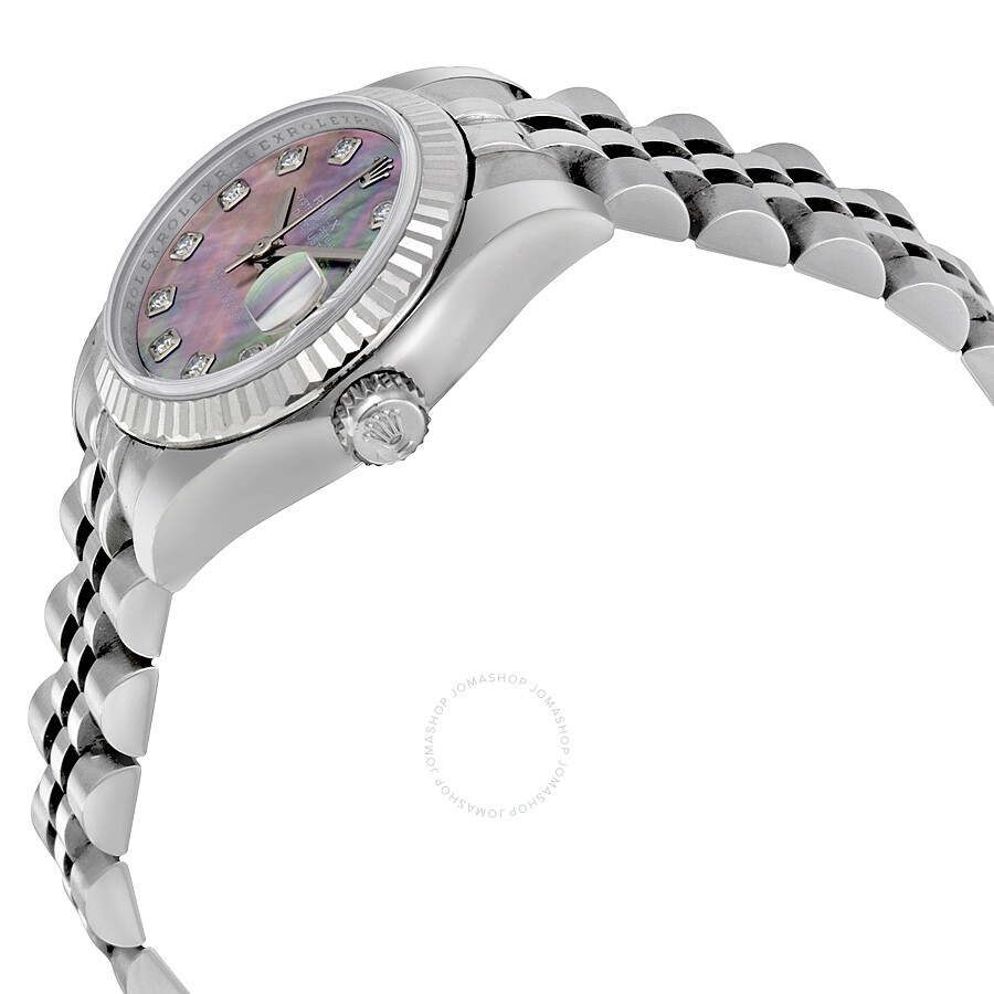 16f5983def8d ... Rolex Lady Datejust 26 Black Mother of Pearl Dial Stainless Steel  Jubilee Bracelet Automatic Watch 179174BMDJ ...