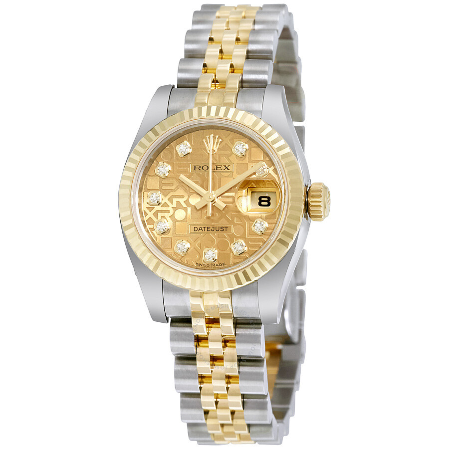 e7c4c13f73c Rolex Lady Datejust 26 Champagne Jubilee With 10 Diamonds Dial Stainless  Steel and 18K Yellow Gold ...