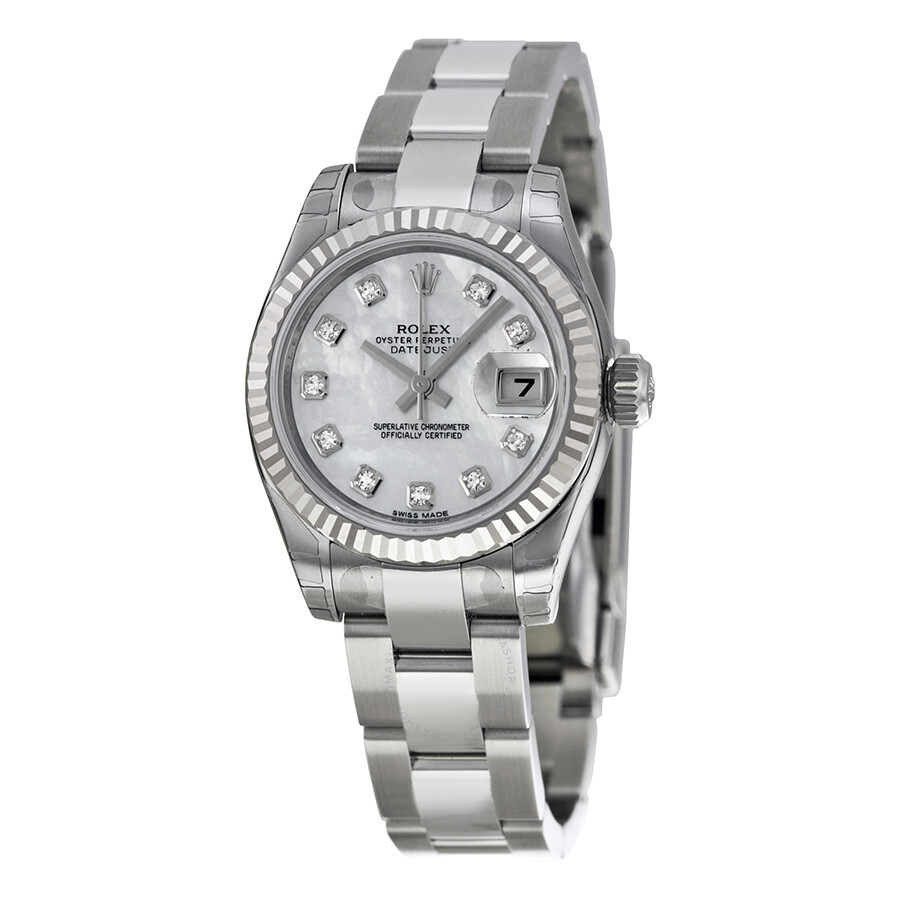 rolex lady datejust 26 mother of pearl dial stainless. Black Bedroom Furniture Sets. Home Design Ideas