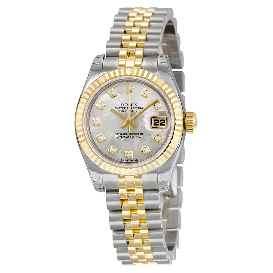 rolex lady datejust 26 mother of pearl with 10 dial. Black Bedroom Furniture Sets. Home Design Ideas