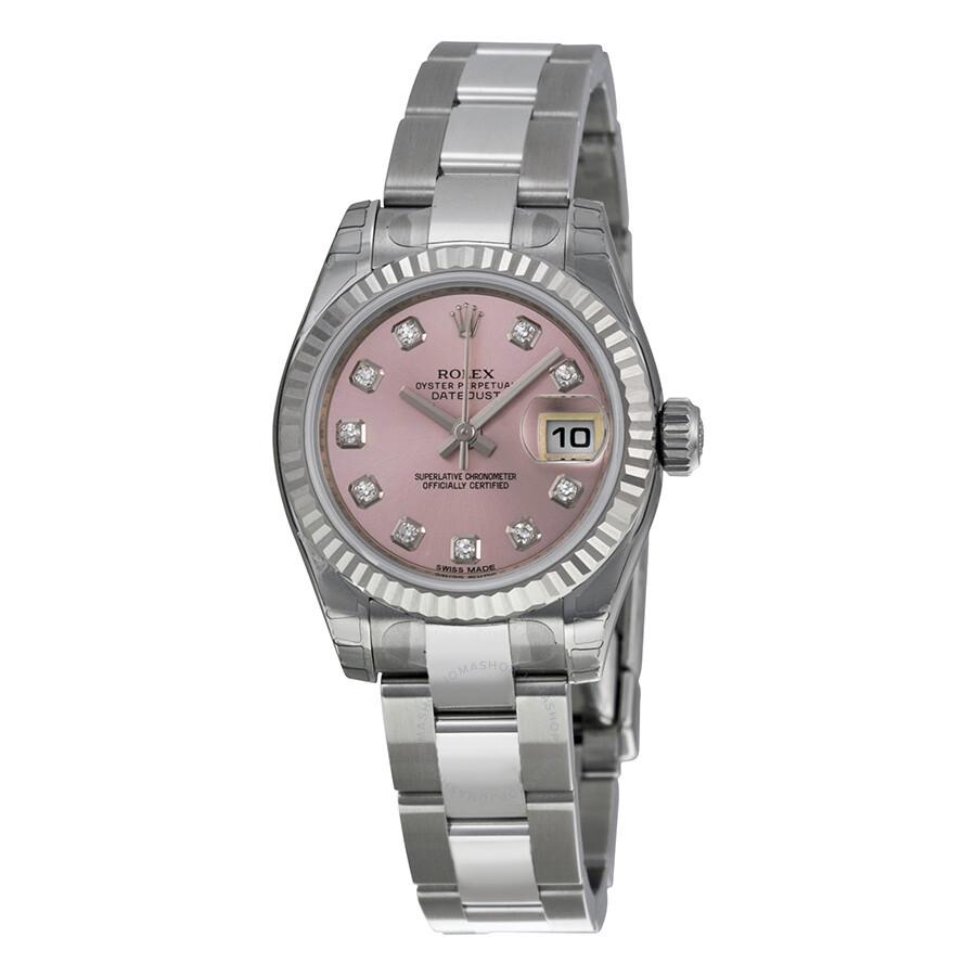 Rolex Datejust Pink Diamond Dial Automatic Ladies Watch