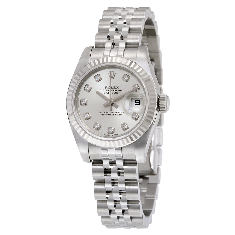 Rolex Lady Datejust 26 Silver Dial Stainless Steel Jubilee Bracelet  Automatic Watch 179174SDJ Item No. 179174-SDJ cd153627e9