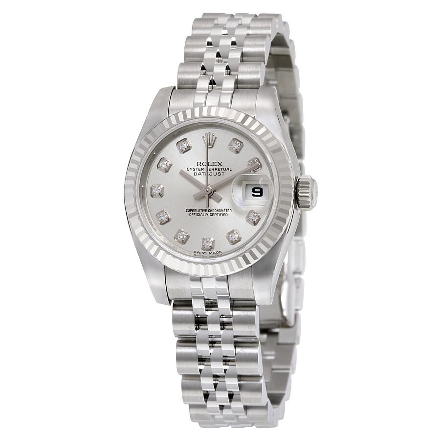 rolex datejust silver jubilee bracelet 18k