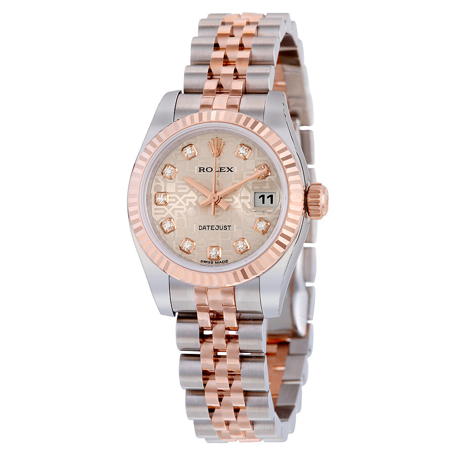 rolex datejust automatic stainless steel w 18kt rose gold