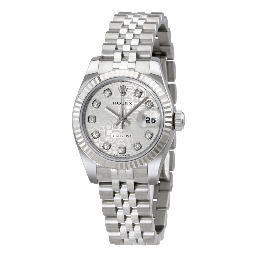 rolex lady datejust 26 silver dial stainless steel jubilee. Black Bedroom Furniture Sets. Home Design Ideas