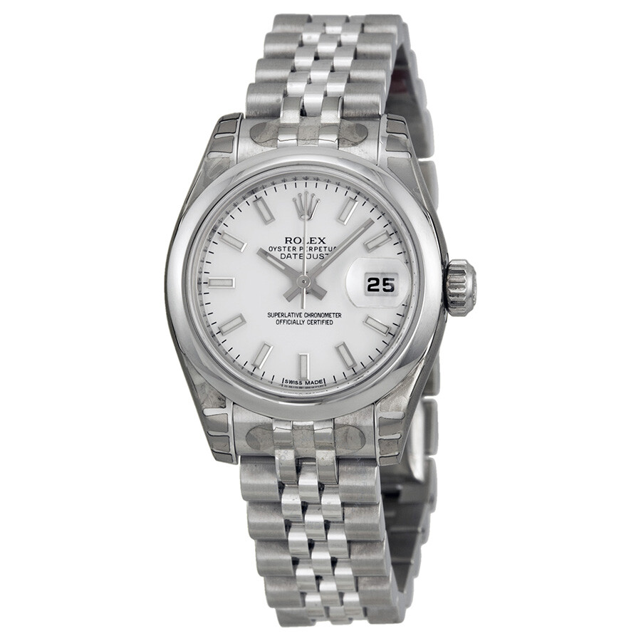 Rolex datejust white index dial jubilee bracelet ladies watch 179160wsj lady datejust rolex for Jubilee watch