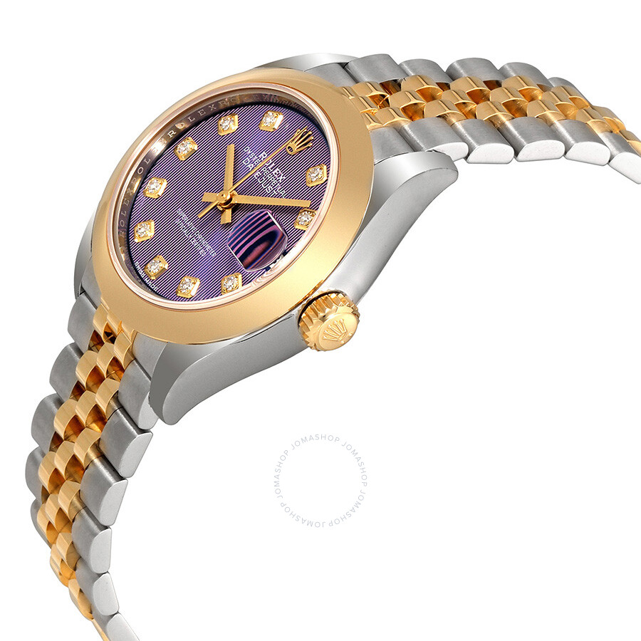 Rolex Lady Datejust 28 Lavender Dial Steel And 18k Yellow Gold Jubilee Watch 279163lvdj