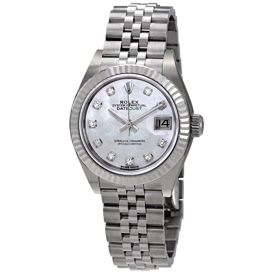 a87225ecb60c Rolex Lady Datejust Automatic Mother of Pearl Diamond Dial Ladies Jubilee  Watch 279174MDJ ...