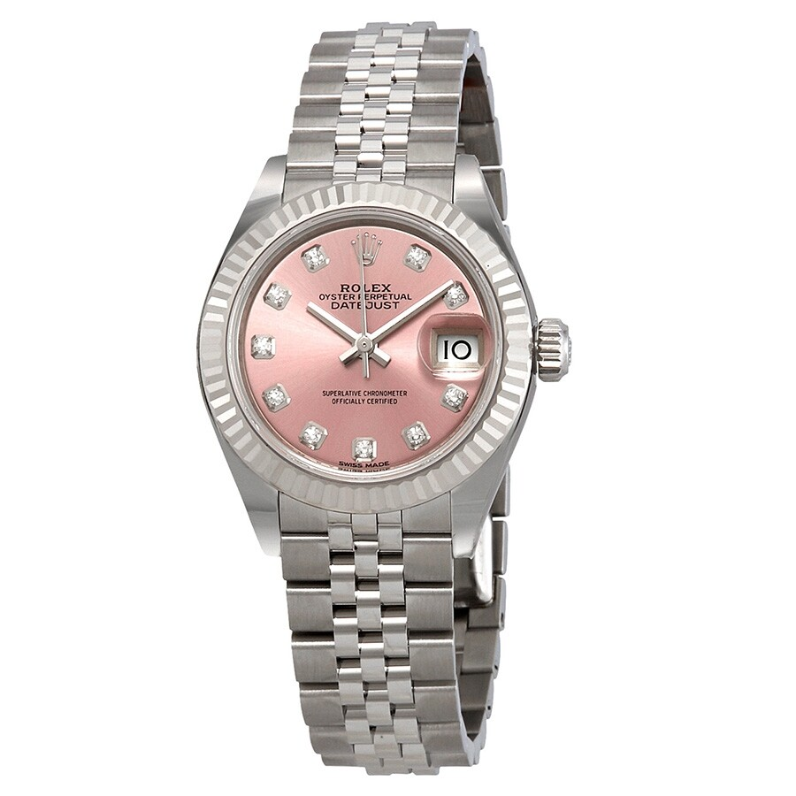 Rolex Lady Datejust Automatic Pink Diamond Dial Ladies Jubilee Watch  279174PDJ