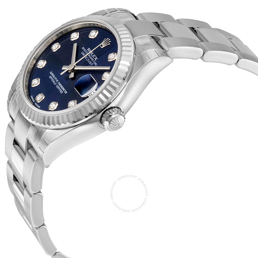 dd483166d3d ... Rolex Lady Datejust Blue Diamond Dial Steel and 18K White Gold Oyster  Watch 178274BLDO ...