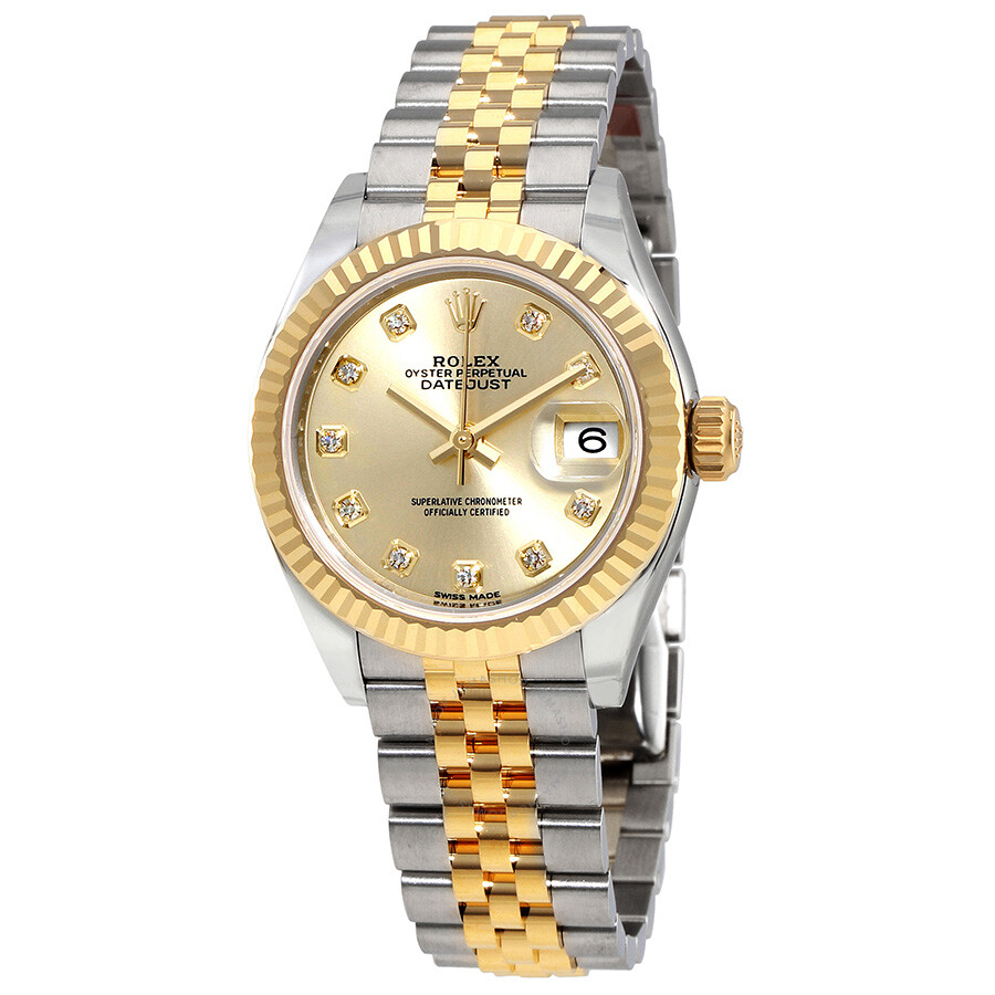 65d50e8ce51 Rolex Lady Datejust Champagne Diamond Dial Steel and 18K Yellow Gold  Automatic Watch 279173CDJ ...