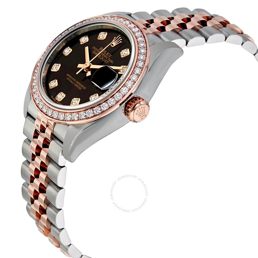 Rolex Lady Datejust Chocolate Diamond Dial Automatic Watch ...