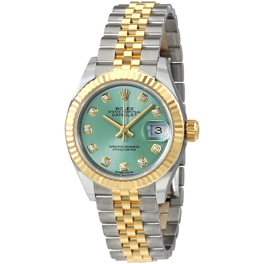 Rolex Lady Datejust Mint Green Diamond Dial Automatic Ladies Watch  279173GNSDJ ... 7254497ba7