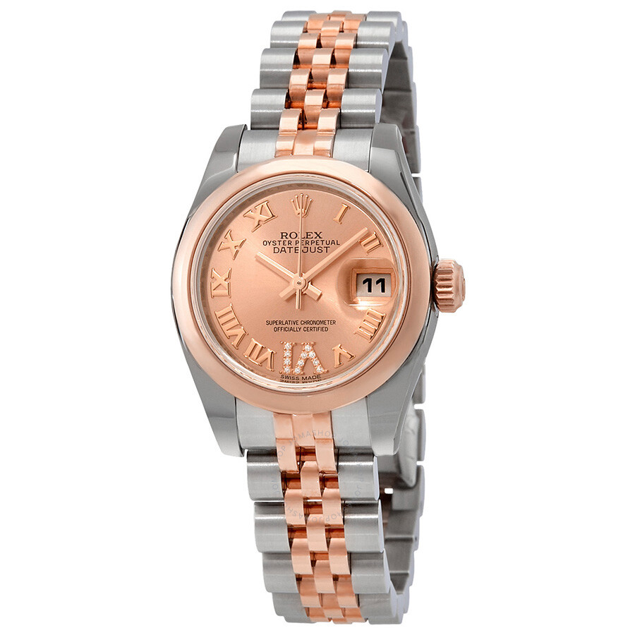 Rolex lady datejust pink dial automatic ladies jubilee watch 179161prdj lady datejust rolex for Jubilee watch