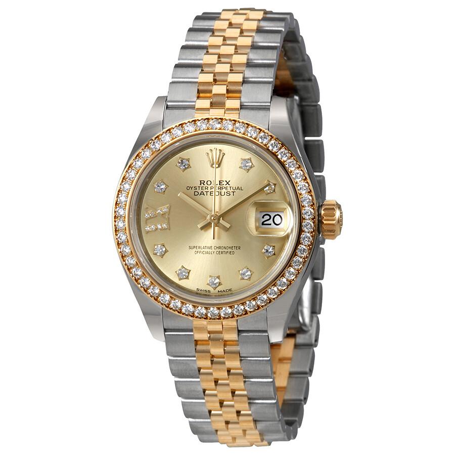 0560c535a54 Rolex Lady Datejust Roman Diamond Dial Diamond Bezel Automatic Watch  279383CDRJ ...