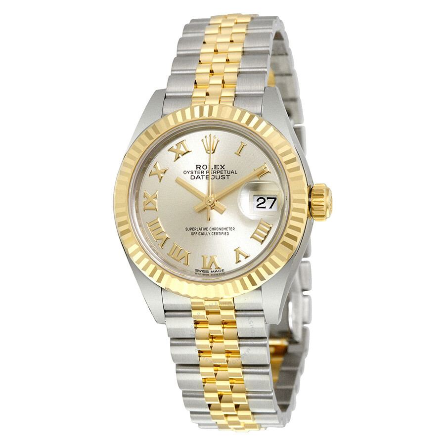 Rolex Lady Datejust Silver Dial Steel and 18K Yellow Gold Jubilee Watch  279173SRJ